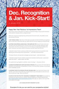 Dec. Recognition & Jan. Kick-Start!