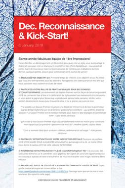 Dec. Reconnaissance & Kick-Start!
