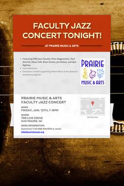 Faculty Jazz Concert Tonight!
