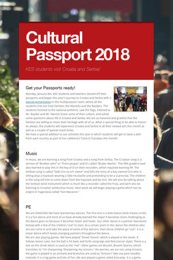 Cultural Passport 2018