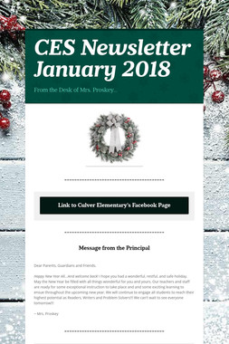 CES Newsletter January 2018
