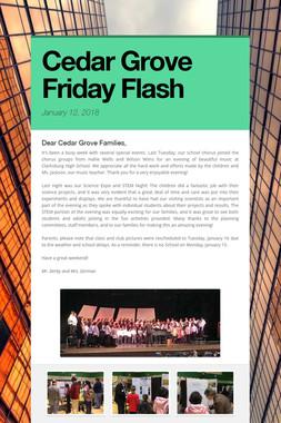 Cedar Grove Friday Flash