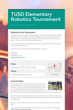 TUSD Elementary Robotics Tournament