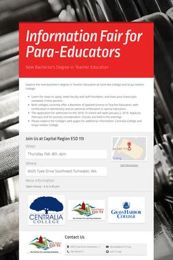 Information Fair for Para-Educators