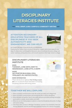 Disciplinary Literacies Institute