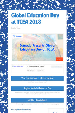 Global Education Day at TCEA 2018