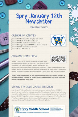 Spry January 12th Newsletter