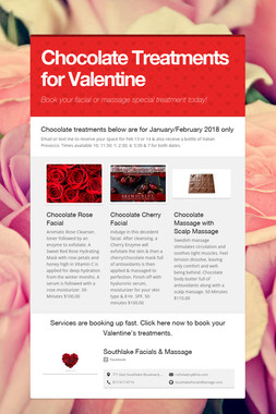 Chocolate Treatments for Valentine