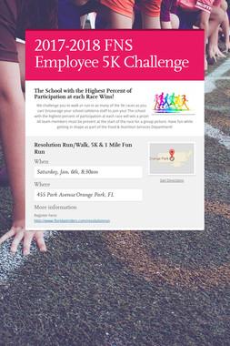 2017-2018 FNS Employee 5K Challenge