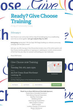 Ready? Give Choose Training