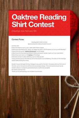 Oaktree Reading Shirt Contest