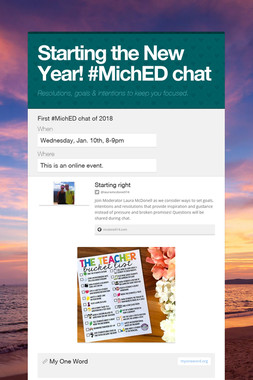 Starting the New Year! #MichED chat