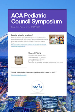 ACA Pediatric Council Symposium