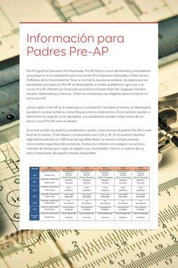 Información para Padres Pre-AP