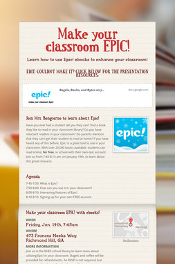 Make your classroom EPIC!