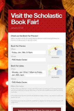 Visit the Scholastic Book Fair!
