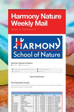 Harmony Nature Weekly Mail