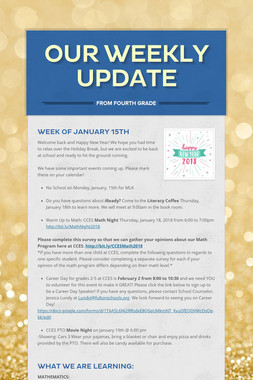 Our Weekly Update