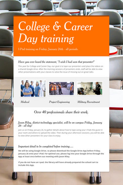 College & Career Day training
