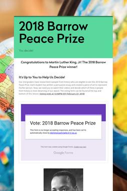 2018 Barrow Peace Prize