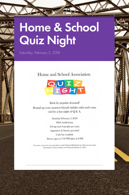 Home & School Quiz Night