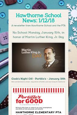 Hawthorne School News: 1/12/18