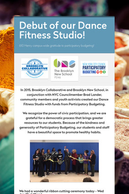 Debut of our Dance Fitness Studio!