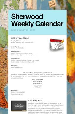 Sherwood Weekly Calendar