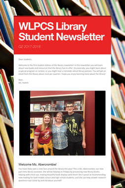 WLPCS Library Student Newsletter