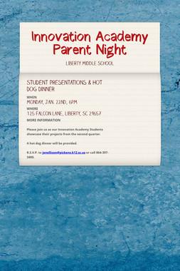Innovation Academy Parent Night