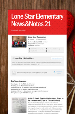 Lone Star Elementary News&Notes 21