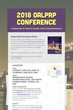 2018 OALPRP Conference