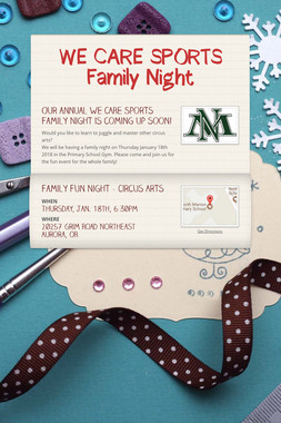 WE CARE SPORTS Family Night