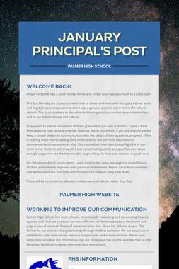 January Principal's Post