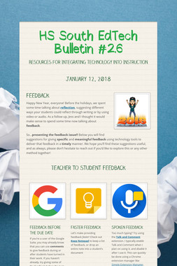 HS South EdTech Bulletin #2.6