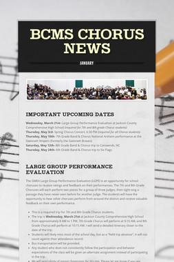 BCMS Chorus News