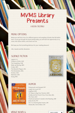 MVMS Library Presents