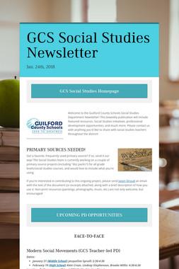 GCS Social Studies Newsletter