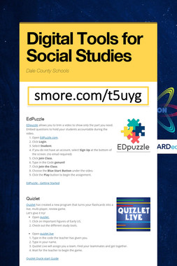 Digital Tools for Social Studies
