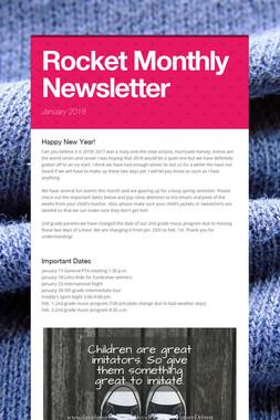Rocket Monthly Newsletter