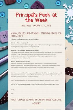 Principal's Peek at the Week