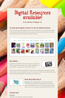 Digital Resources available!