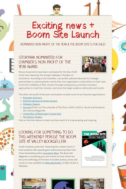 Exciting news + Boom Site Launch
