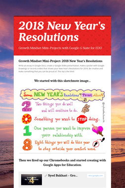 2018 New Year's Resolutions