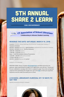 5th Annual Share 2 Learn