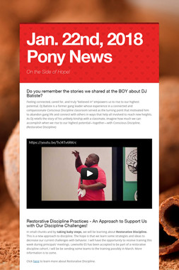 Jan. 22nd, 2018 Pony News