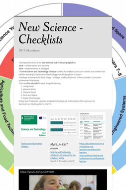 New Science - Checklists