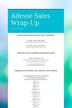 Adesse Sales Wrap-Up