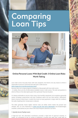 Comparing Loan Tips