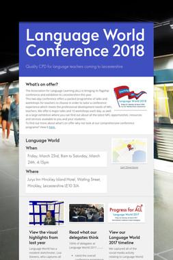 Language World Conference 2018